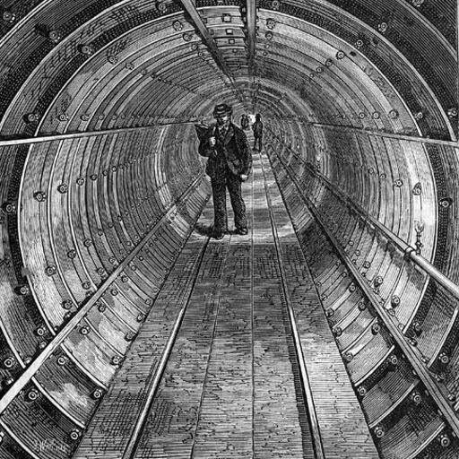 Tunnel de souterrain anglais