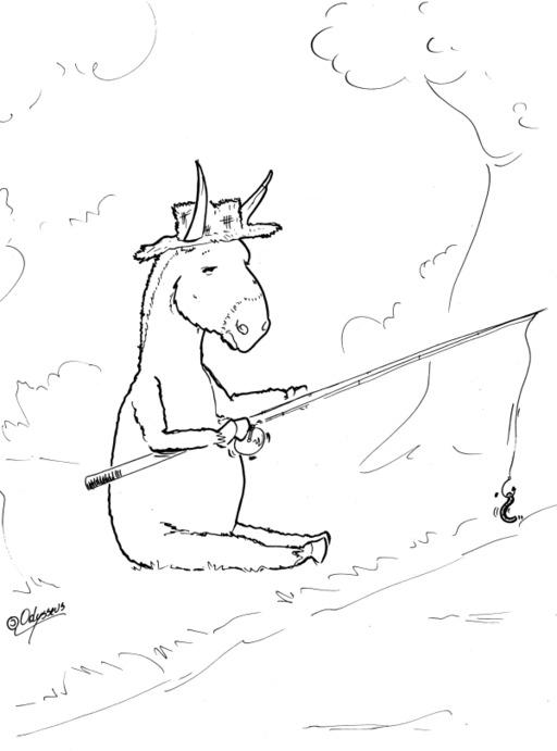 Un âne et un asticot