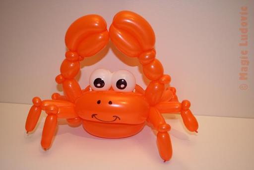 Un crabe en ballons