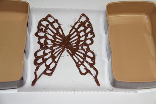 Un papillon en chocolat