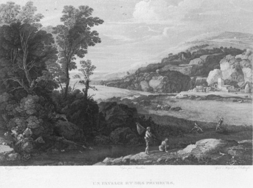 Un paysage et des pêcheurs