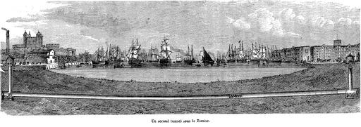 Un tunnel sous la Tamise en 1873