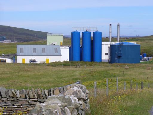 Usine de production de farine de poisson en Écosse