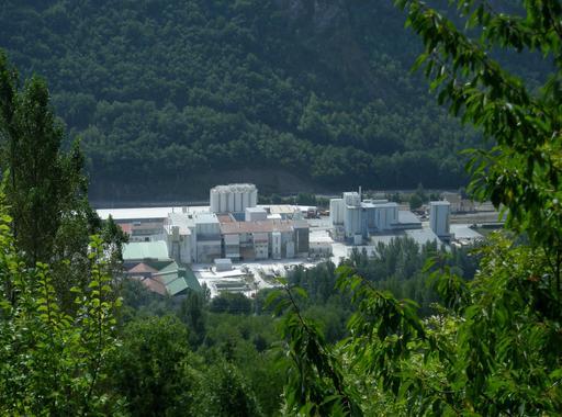 Usine de transformation du talc à Luzenac