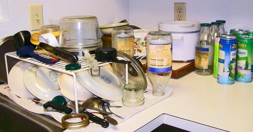 Vaisselle après cuisine