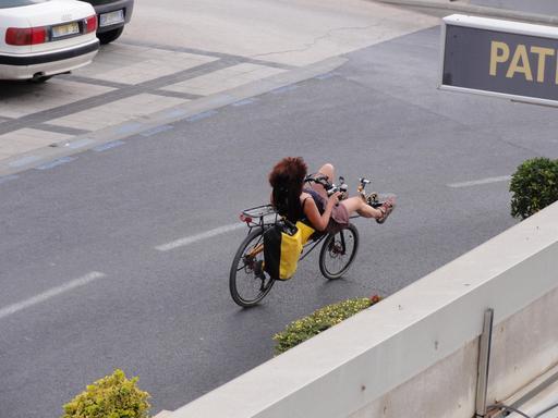 Vélo couché de ville