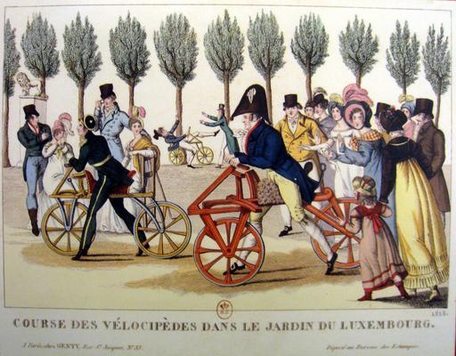 Vélocipèdes au Jardin du Luxembourg