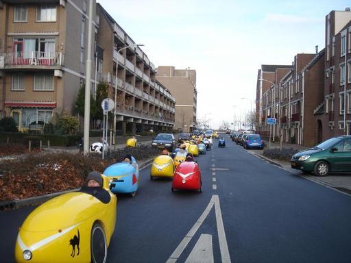 Vélomobiles en ville