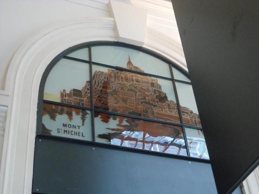 Verrière du Mont St Michel à la gare St Lazare
