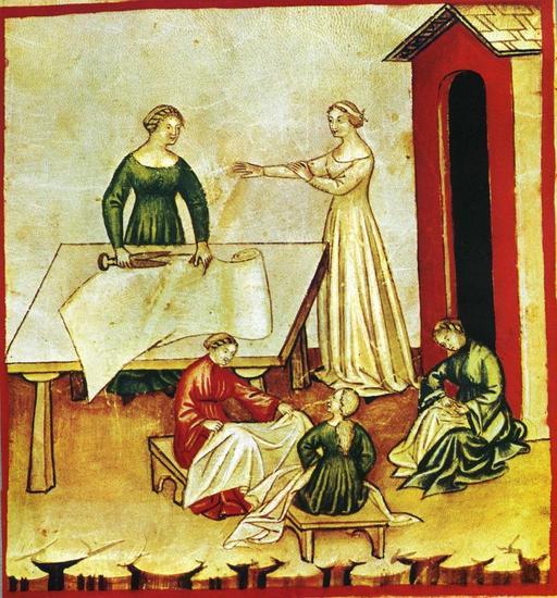 Vie quotidienne au Moyen Age : vêtements de lin