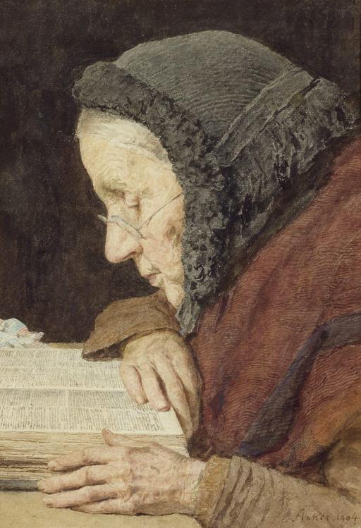 Vieille femme lisant