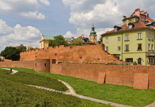 Vieille ville de Varsovie et remparts