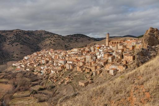 Village médiéval de Moros en Espagne