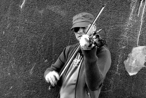 Violoniste folk polonais