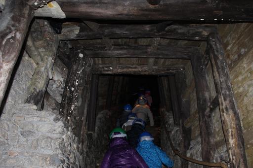 Visite d'une mine de manganèse à Vielle-Aure