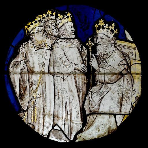 Vitrail d'Hérode et des rois mages