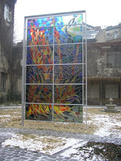 Vitrail Wallenberg à Budapest