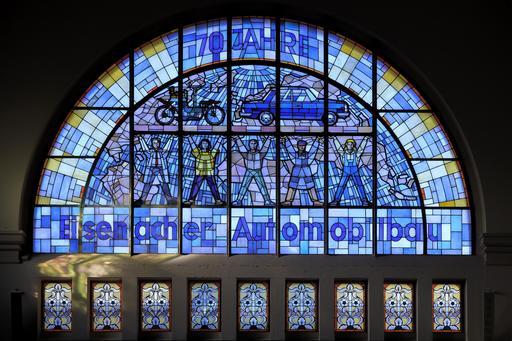 Vitraux de la gare d'Eisenach en Allemagne