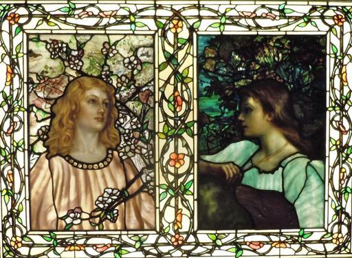 Vitraux Tiffany du printemps et de l'automne en 1892