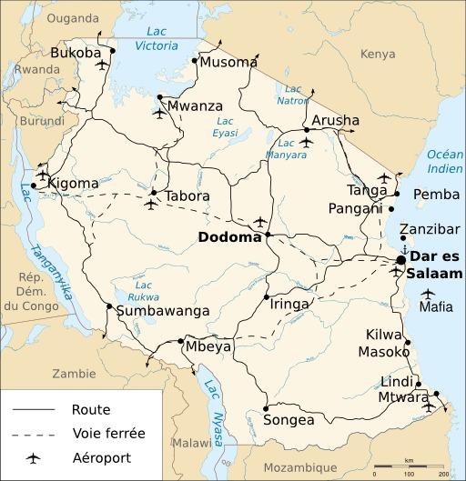 Voies de communication en Tanzanie
