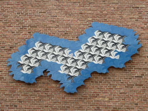 Vol d'oiseaux par Escher