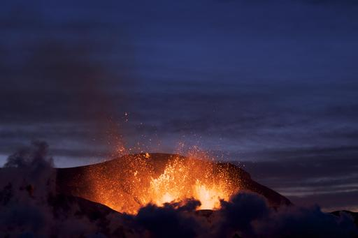 Volcan Eyjafjöll au crépuscule