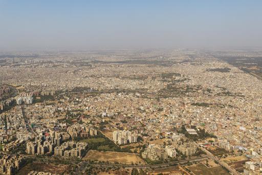 Vue aérienne de New Delhi
