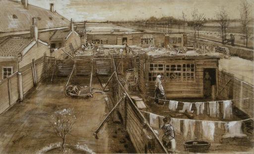 Vue de La Haye en 1882