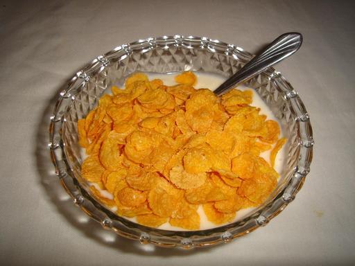 Yaourt avec corn flakes