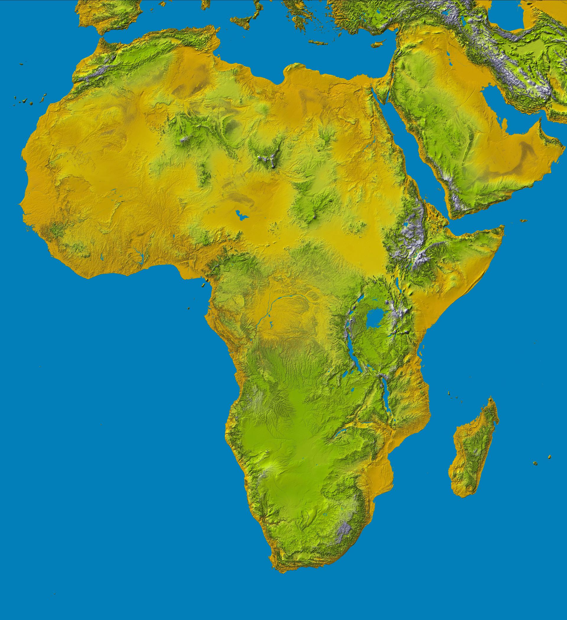 Carte De Lafrique Hydrographie.Ressources Educatives Libres Data Abuledu Org Les