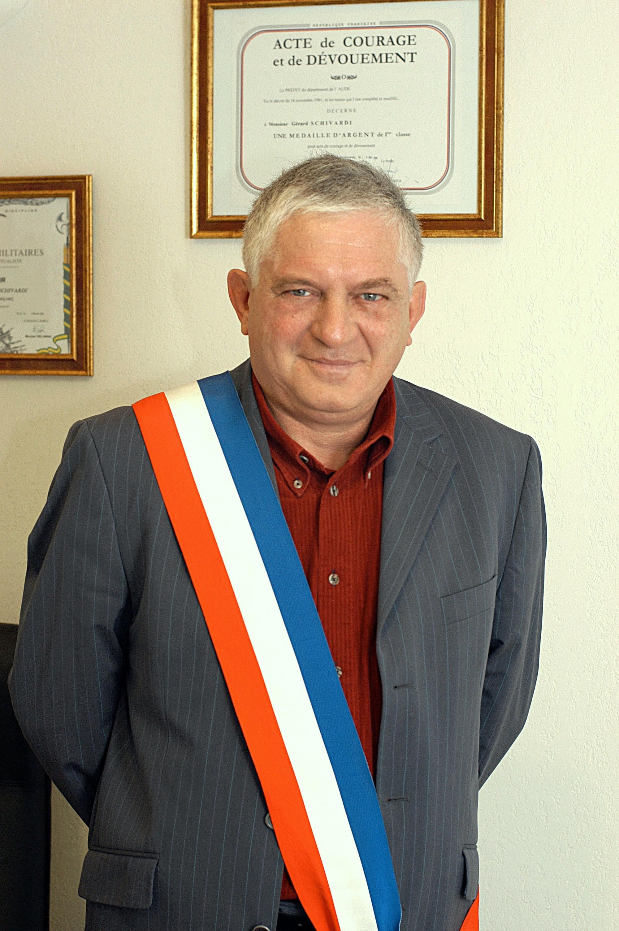 Écharpe à rayures tricolore de maire