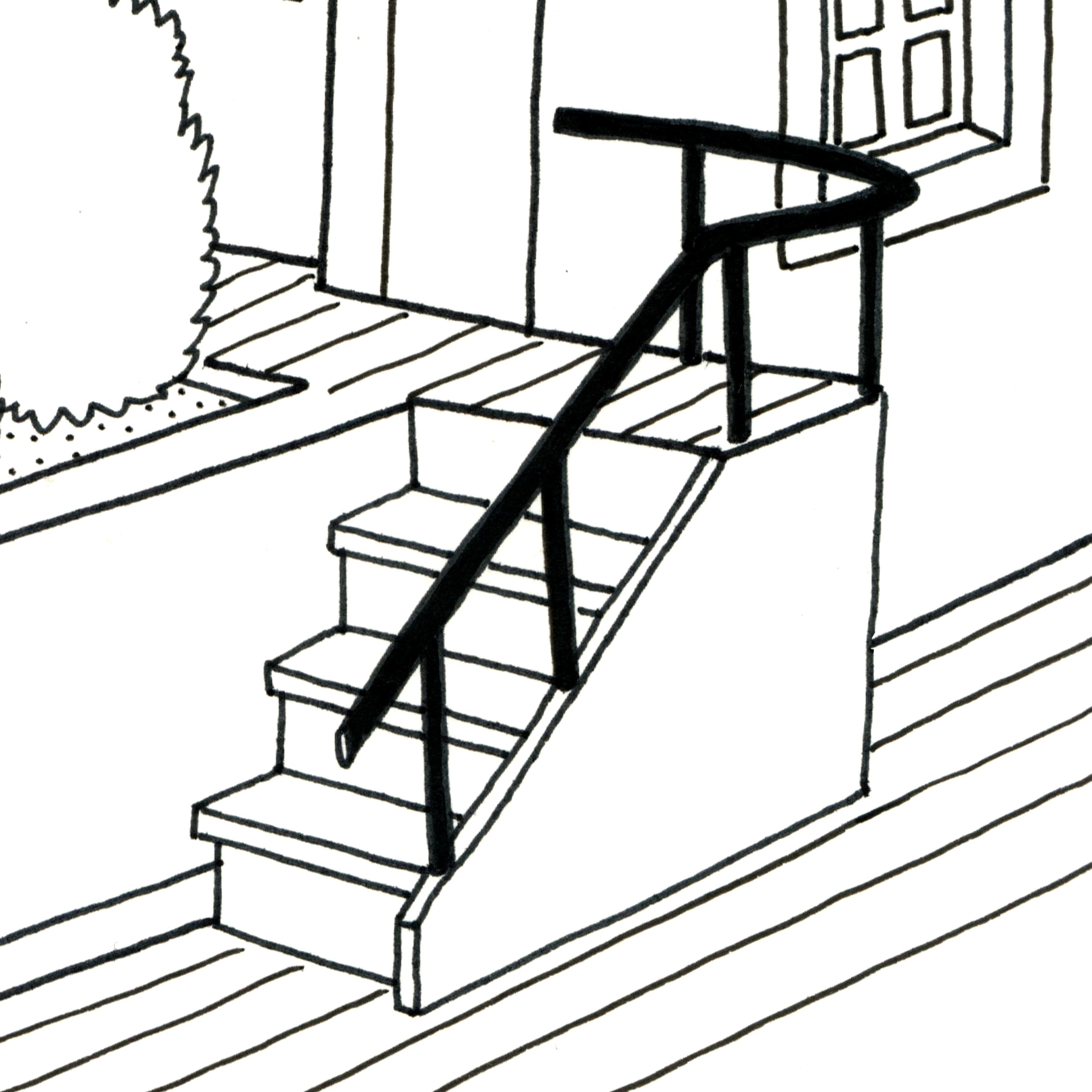 dessin escalier cgmrotterdam. Black Bedroom Furniture Sets. Home Design Ideas
